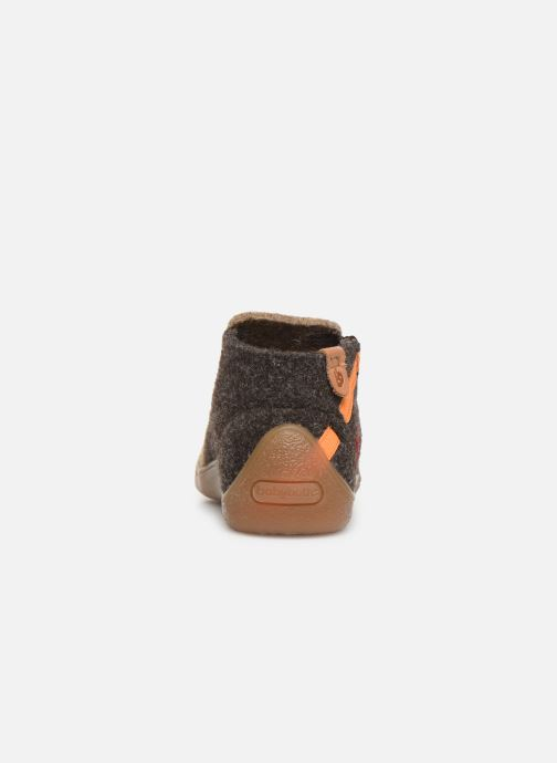 Slippers Babybotte Musicien Brown view from the right