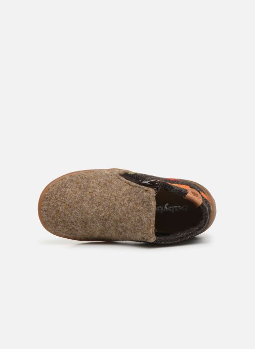 Slippers Babybotte Musicien Brown view from the left