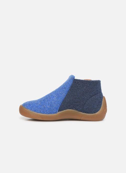 Pantoffels Babybotte Musicien Blauw voorkant