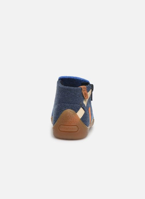 Slippers Babybotte Musicien Blue view from the right