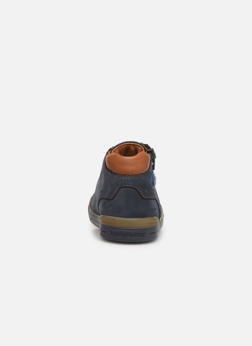 Ankle boots Babybotte B3 Blue view from the right