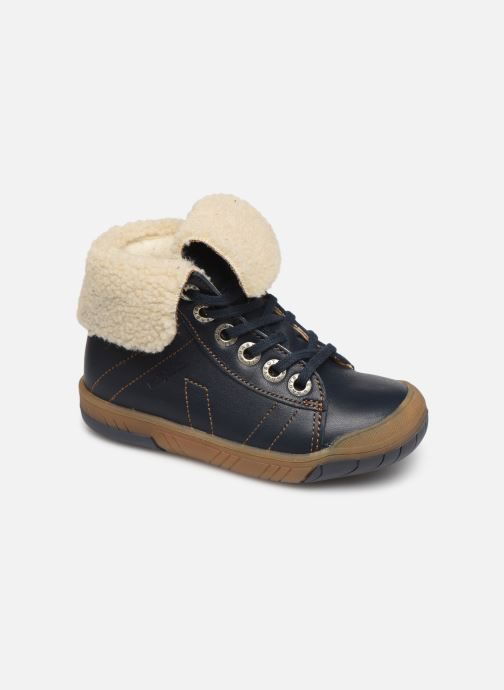 Ankelstøvler Babybotte Aulafl Blå detaljeret billede af skoene