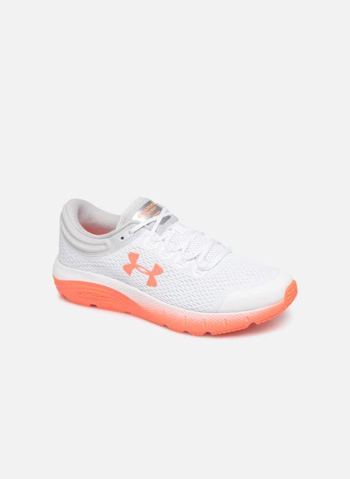 Chaussures de sport Under Armour UA W Charged Bandit 5 Blanc vue détail/paire