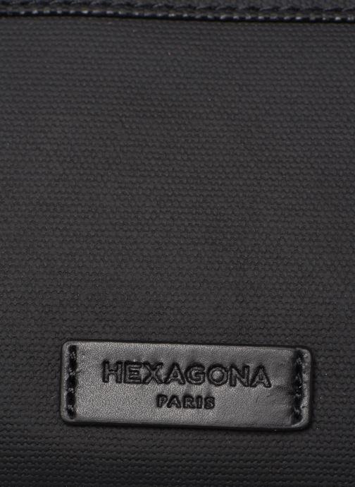 Marroquinería pequeña Hexagona HORIZON BANANE Negro vista lateral izquierda