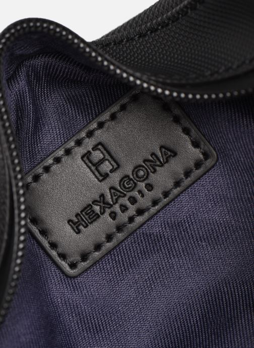 Kleine lederwaren Hexagona LEGEND BANANE Zwart achterkant