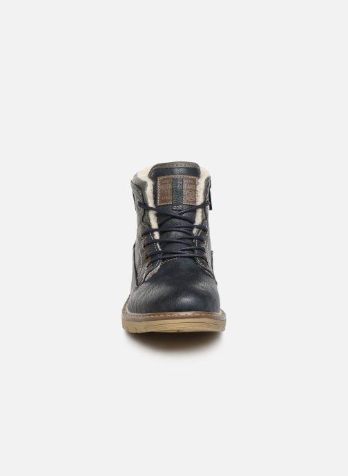 Bottines et boots Mustang shoes 5017623 Bleu vue portées chaussures