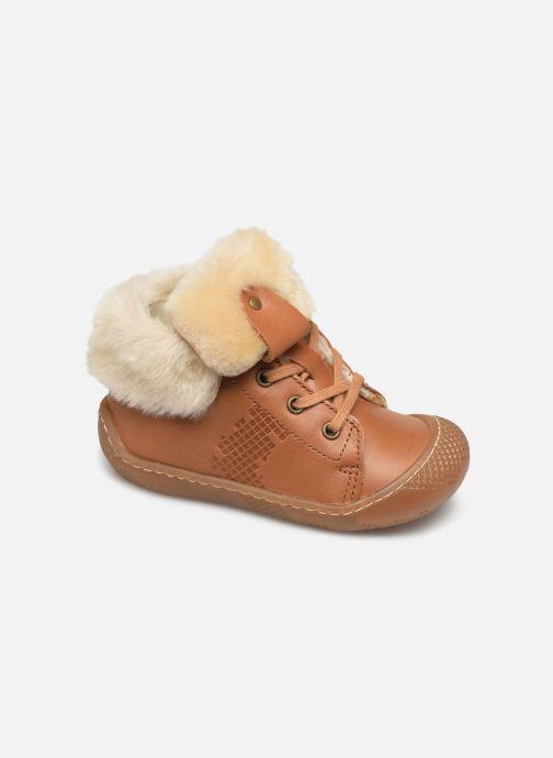 Ankelstøvler Babybotte Abufl Brun detaljeret billede af skoene