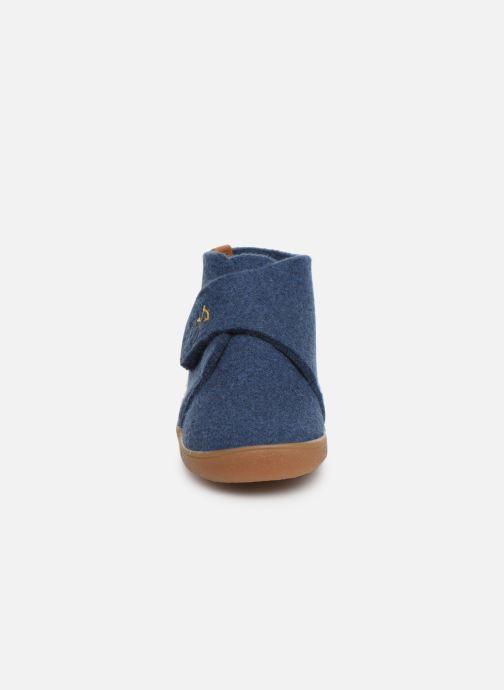 Chaussons Babybotte Marseil Bleu vue portées chaussures
