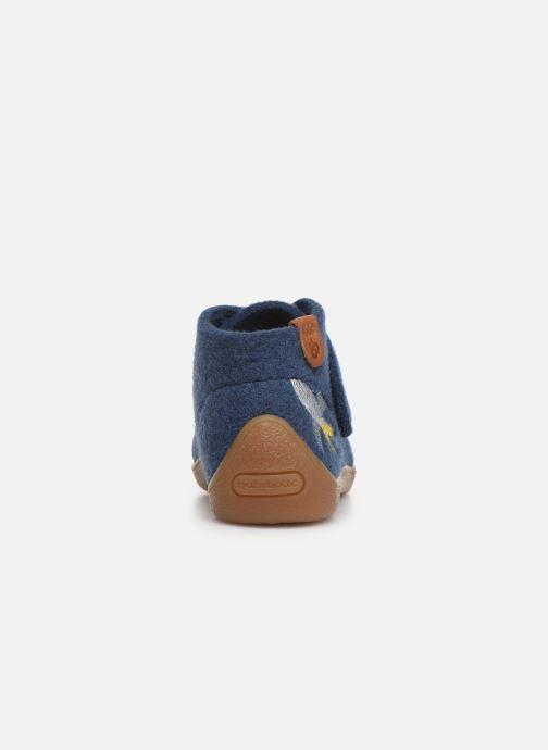 Pantuflas Babybotte Marseil Azul vista lateral derecha