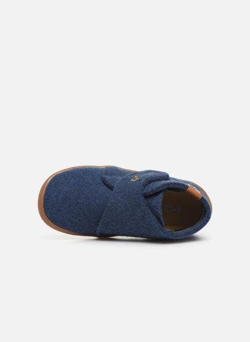 Pantuflas Babybotte Marseil Azul vista lateral izquierda
