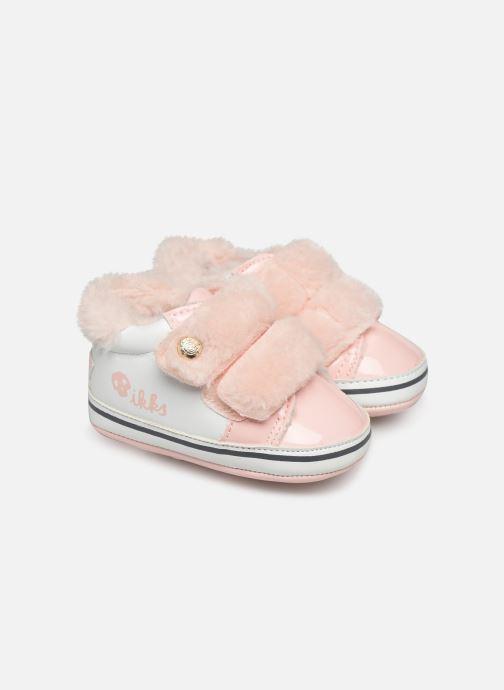 Hjemmesko IKKS JUNIOR  Basket Velcro XP89010 Pink detaljeret billede af skoene