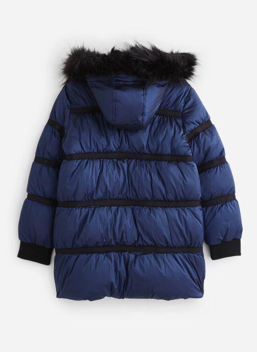 Vêtements IKKS JUNIOR  Doudoune Longue XP41012 Bleu vue bas / vue portée sac