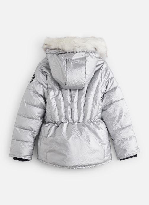 Vêtements IKKS JUNIOR  Doudoune Mi-Longue XP41022 Argent vue bas / vue portée sac