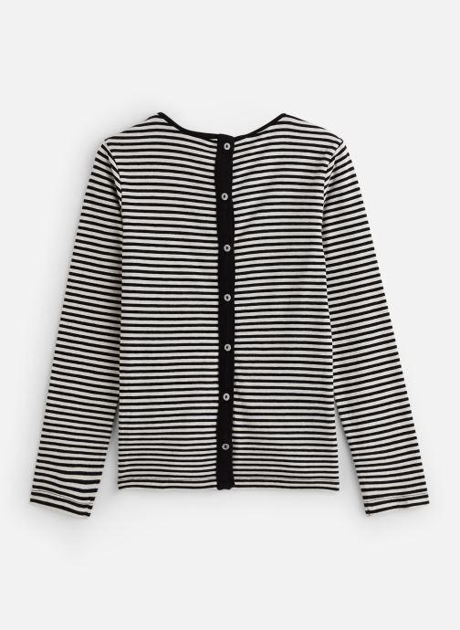 Vêtements IKKS JUNIOR  Tee Shirt ML XP10132 Noir vue bas / vue portée sac
