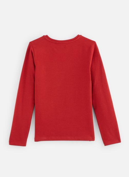 Vêtements IKKS JUNIOR  Tee Shirt ML XP10142 Rouge vue bas / vue portée sac