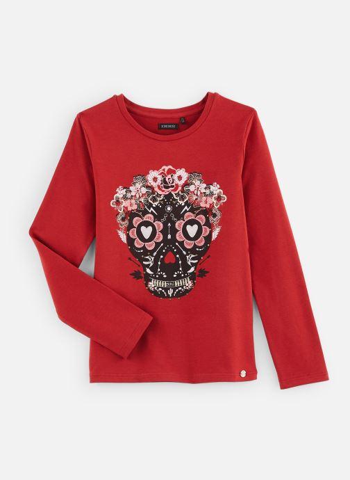 Vêtements IKKS JUNIOR  Tee Shirt ML XP10142 Rouge vue détail/paire