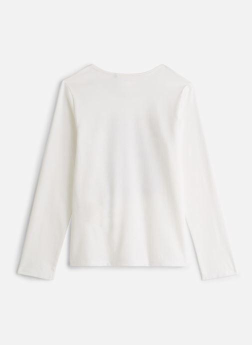 Vêtements IKKS JUNIOR  Tee Shirt ML XP10172 Blanc vue bas / vue portée sac