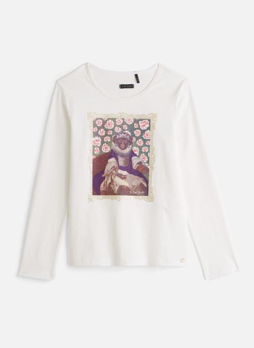 Vêtements IKKS JUNIOR  Tee Shirt ML XP10172 Blanc vue détail/paire