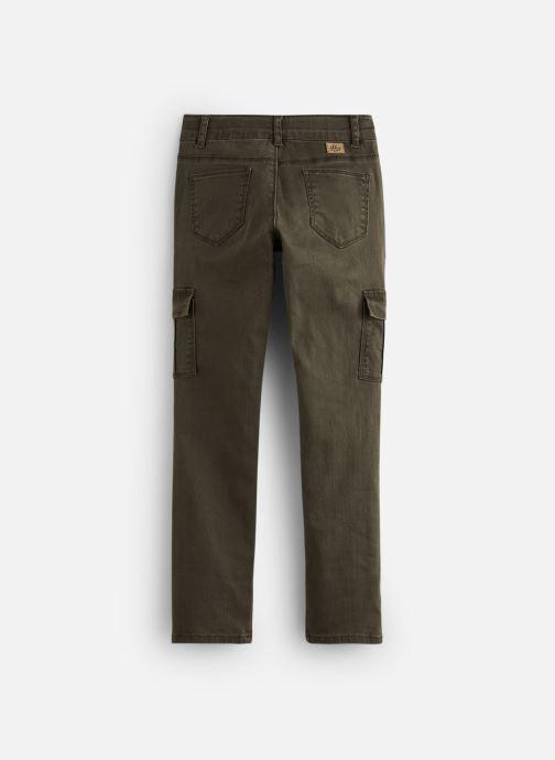 Vêtements IKKS JUNIOR  Pantalon Battle XP22022 Vert vue bas / vue portée sac