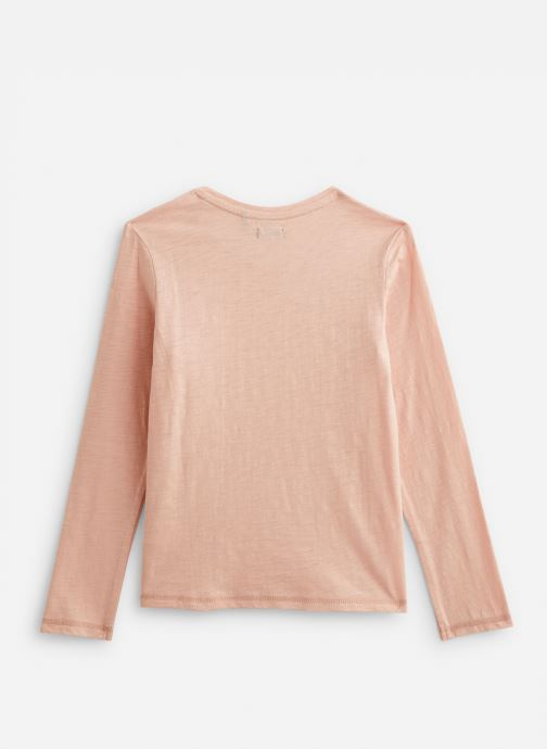 Vêtements IKKS JUNIOR  Tee Shirt ML XP10442 Rose vue bas / vue portée sac