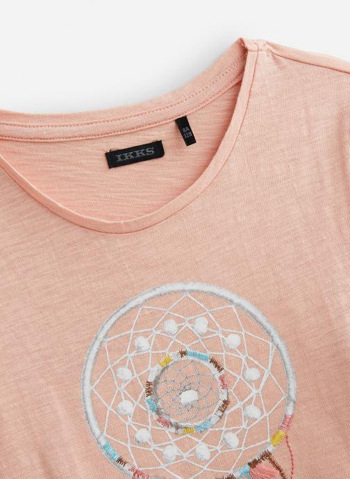 Vêtements IKKS JUNIOR  Tee Shirt ML XP10442 Rose vue portées chaussures