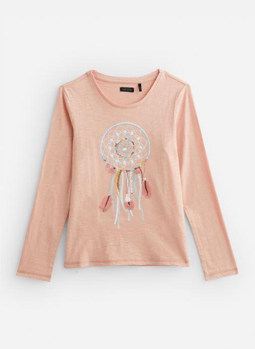 Vêtements IKKS JUNIOR  Tee Shirt ML XP10442 Rose vue détail/paire