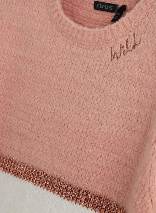 Vêtements IKKS JUNIOR  Pull Tricot XP18112 Rose vue portées chaussures