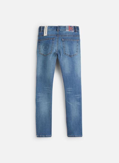 Vêtements IKKS JUNIOR  Skinny Patch XP29003 Bleu vue bas / vue portée sac