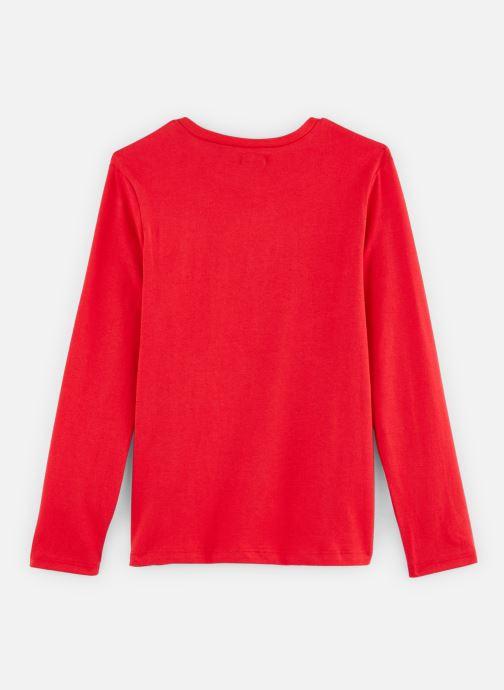 Vêtements IKKS JUNIOR  Tee Shirt ML XP10063 Rouge vue bas / vue portée sac