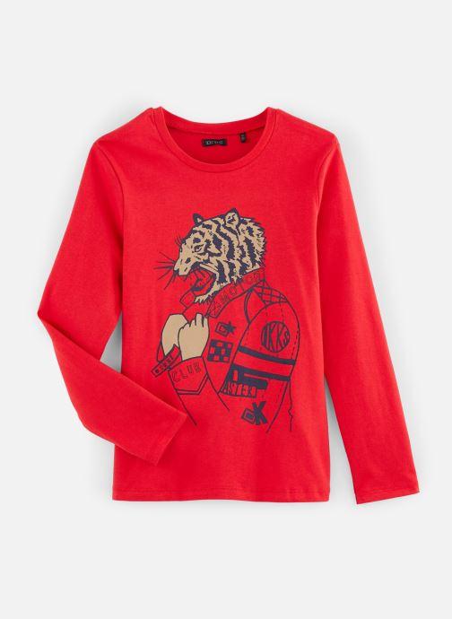 Vêtements IKKS JUNIOR  Tee Shirt ML XP10063 Rouge vue détail/paire