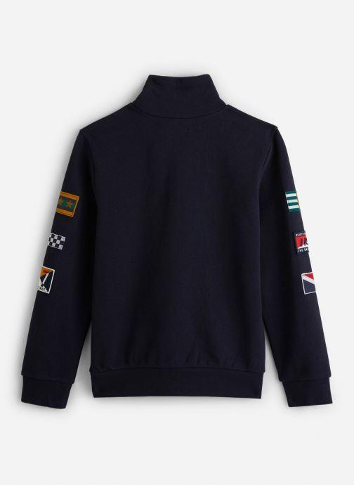Vêtements IKKS JUNIOR  Sweat C Montant XP15023 Bleu vue bas / vue portée sac