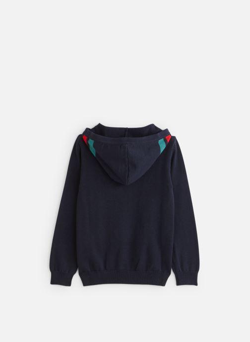 Vêtements IKKS JUNIOR  Sweat Cap XP18023 Bleu vue bas / vue portée sac