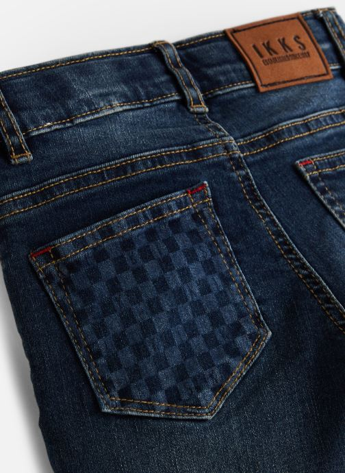 Vêtements IKKS JUNIOR  Skinny Indechir XP29013 Bleu vue portées chaussures