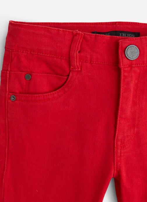 Vêtements IKKS JUNIOR  Denim Slim XP29043 Rouge vue portées chaussures