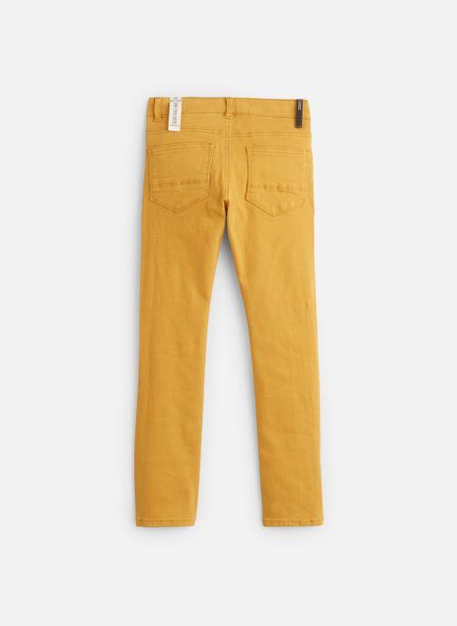 Vêtements IKKS JUNIOR  Denim Slim XP29043 Jaune vue bas / vue portée sac