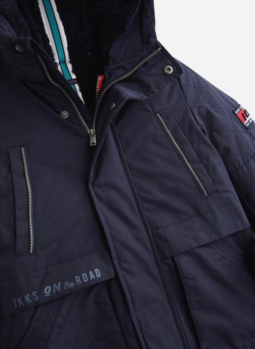 Vêtements IKKS JUNIOR  Parka 2en1 Cap XP49003 Bleu vue portées chaussures