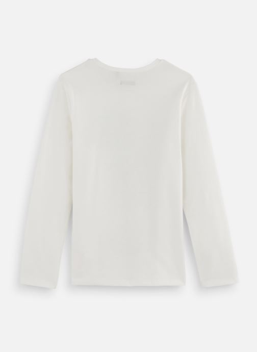 Vêtements IKKS JUNIOR  Ts ML Phospho XP10153 Blanc vue bas / vue portée sac