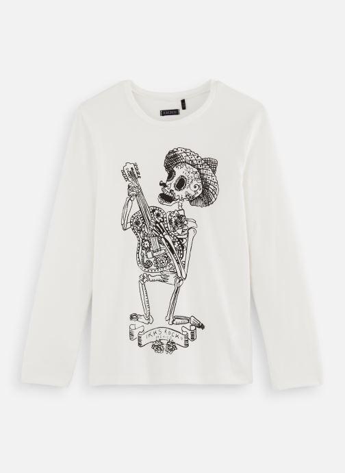 Vêtements IKKS JUNIOR  Ts ML Phospho XP10153 Blanc vue détail/paire