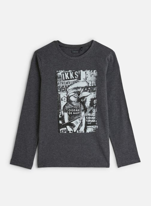 Vêtements IKKS JUNIOR  Ts ML Animal XP10383 Gris vue détail/paire