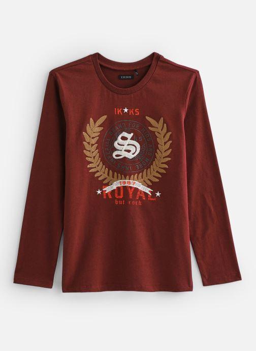Vêtements IKKS JUNIOR  Tee Shirt ML XP10223 Rouge vue détail/paire