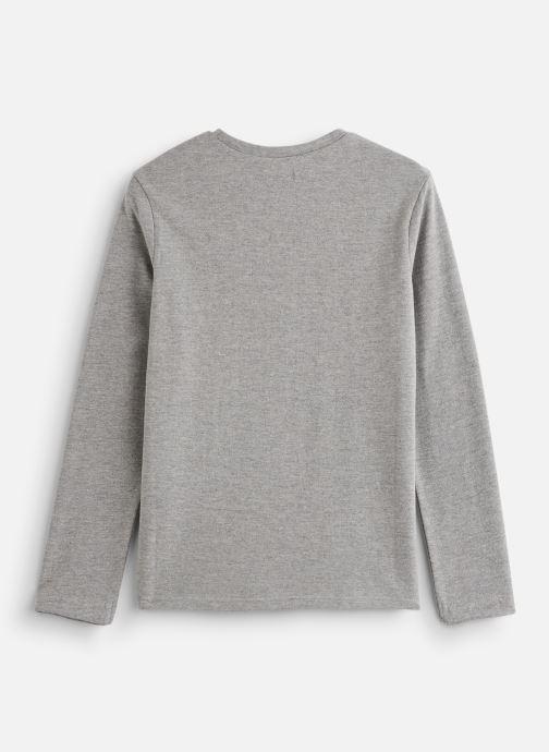 Vêtements IKKS JUNIOR  Tee Shirt ML XP10233 Gris vue bas / vue portée sac