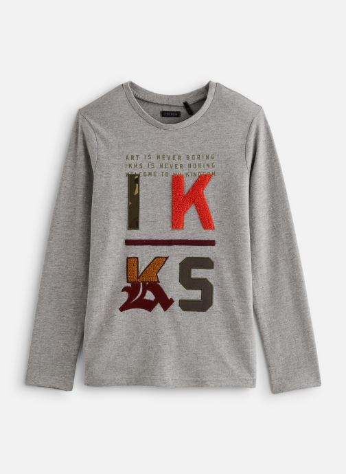Vêtements IKKS JUNIOR  Tee Shirt ML XP10233 Gris vue détail/paire