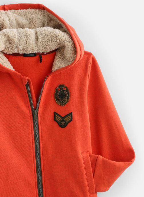 Vêtements IKKS JUNIOR  Cardigan Cap XP17053 Orange vue portées chaussures