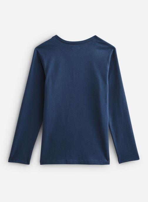Vêtements IKKS JUNIOR  Tee Shirt ML XP10263 Bleu vue bas / vue portée sac
