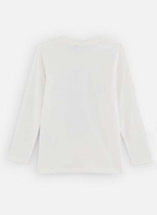 Vêtements IKKS JUNIOR  Tee Shirt ML XP10293 Blanc vue bas / vue portée sac