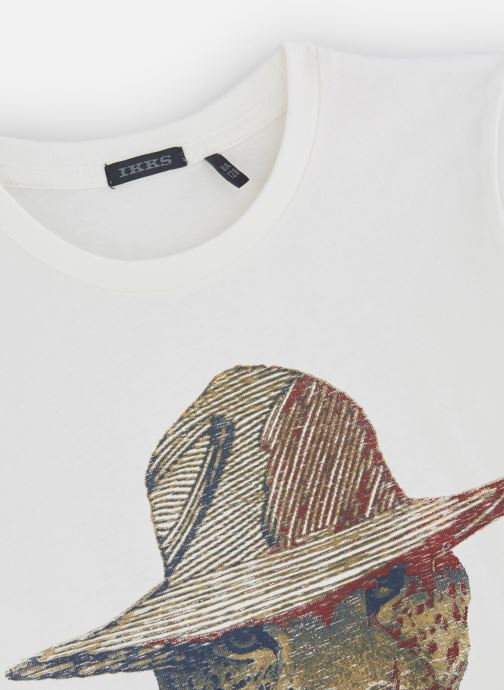 Vêtements IKKS JUNIOR  Tee Shirt ML XP10293 Blanc vue portées chaussures