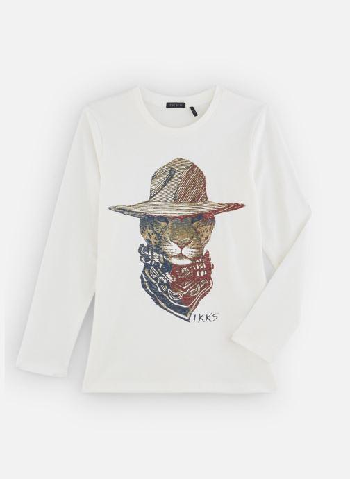 Vêtements IKKS JUNIOR  Tee Shirt ML XP10293 Blanc vue détail/paire