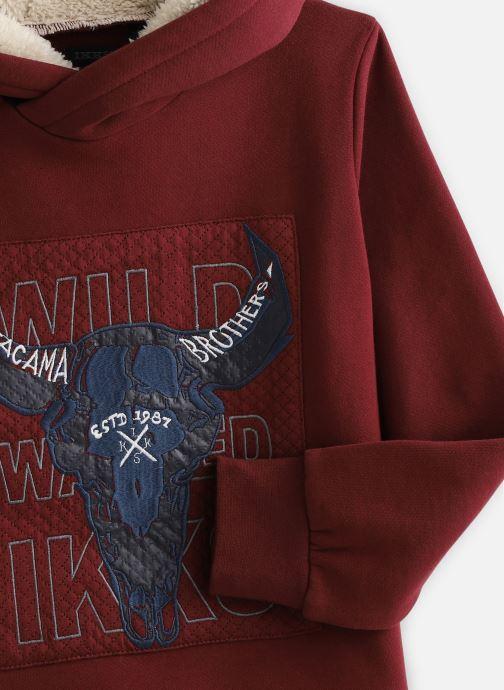 Vêtements IKKS JUNIOR  Sweat Cap XP15073 Rouge vue portées chaussures