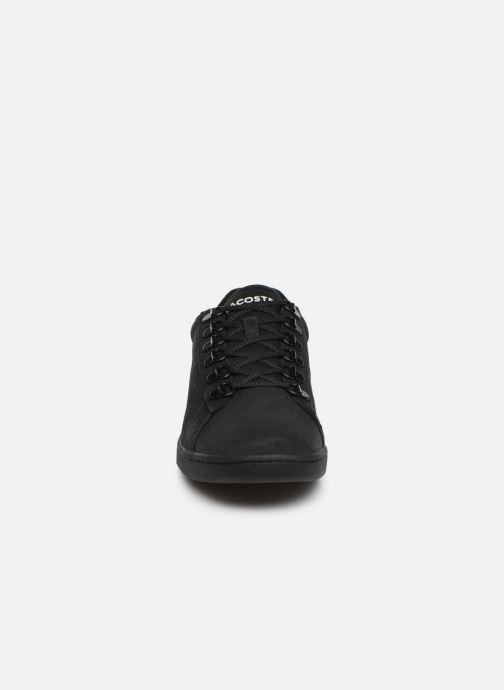 Sneaker Lacoste Carnaby Evo 319 6 SMA schwarz schuhe getragen