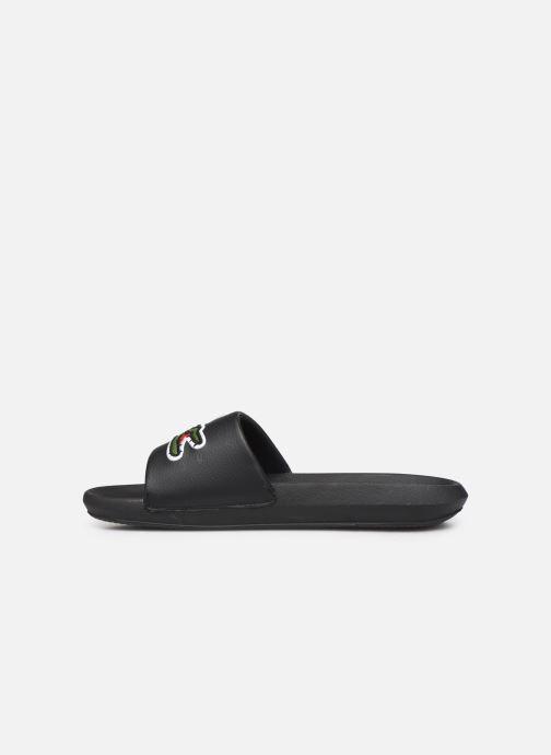 Sandales et nu-pieds Lacoste Croco Slide 319 4 US CMA Noir vue face